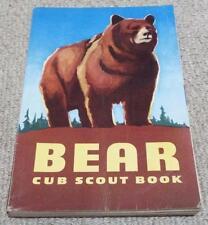 BEAR CUB SCOUT BOOK - VINTAGE 1954 CUBS / BOY SCOUTS BOOK - USA