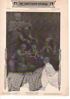 """1903 Ladies Home Journal- Maxfield Parrish print- Seein' things at Night 11X16"""""""