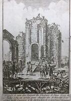 Démolition de la Bastille Juillet 1789 Rare Gravure Révolution Française Paris