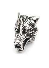 Bartperle m. Wolfskopf, Ø5mm Silber Bartschmuck Vikings Wikinger Dreadschmuck