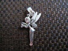 Tibetan silver necklace pendant charm  Tinkerbell fairy pixie ELGR