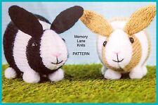 Rabbit Soft Toy Vintage Knitting PATTERN - Dutch Bunny Rabbit - DK Yarn B28