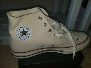 Size 12 - Converse Chuck Taylor All Star High Classic Cream