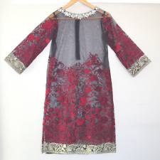 AGHA NOOR Dress Heavy Embroidered Party Wear Shirt Beaded S