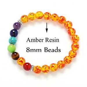 7 Chakra Healing Beaded Bracelet Lava Stone 8MM Beaded Diffuser Bracelet Jewelry