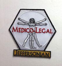 "BONES TV Series White Medico Legal Logo 3.25"" Patch- FREE S&H (BOPA-04)"