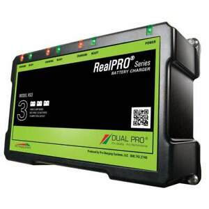 Dual Pro Realpro Series 18a 3-Bank Battery Charger #RS3