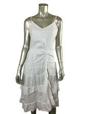 DIane Von Furstenberg Dress 6 DVF White Cotton Eyelet Dress V Neck Sleeveless