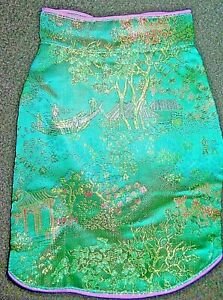 (SM-MED BREED) XXS-XXL GREEN ORIENTAL BROCADE PET CHEONGSAM DRESS