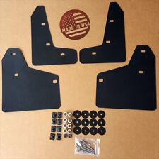 StreetRays Mud Flaps Set BLACK w/ Hardware Kit & Logo for 10-14 VW MK6 Golf GTI