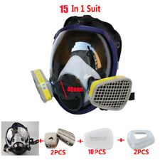15 in 1 Suit Double Use Gas mask Paint Spray Full Face Facepiece Respirator 40mm