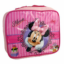 DISNEY Sac à gouter rose lunch bag MINNIE rayures Neuf