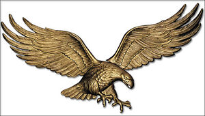 """Whitehall 29"""" Wall Eagle Wall Art - Antique Brass Color - Ships FAST!"""