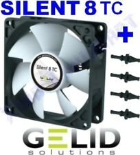 12V VENTOLA per CASE PC FAN 80 mm GELID SILENT 8 TC CONTROL 80mm x 80mm x 25mm