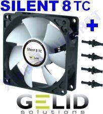 12V VENTOLA per CASE PC FAN 80 mm GELID SILENT 8 TC CONTROL 80mm x 80mm x 25mm
