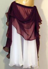 Purple & White Reversible Skirt BellyDance Costume Boho