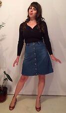 Diesel Denim Jean Button Down Skirt 70s style Small