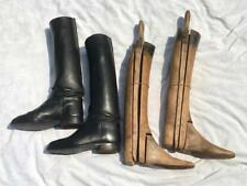 VINTAGE DAVIS LEATHER RIDING BOOTS WITH MAXWELL WOODEN BOOT TREES