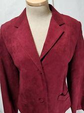 Otto D. Madsen Skirt Suit 40 / 14 Alcantara (Ultrasuede) Blazer Jacket
