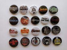 20 X NWOBHM buttons (heavy metal,pins,badges,patches,vinyl,cd,album,tshirt)