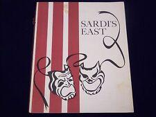 1961 SARDI'S EAST THANKSGIVING DINNER MENU 234 WEST 44TH STREET NY - J 1967