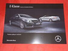 "MERCEDES A207 C207 E-Klasse E 500 Coupe Cabriolet ""V8 Edition"" Prospekt von 2015"