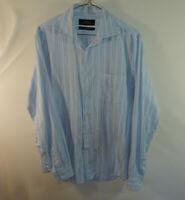 Tasso Elba Island Mens Long Sleeve Fitted Casual Dress Shirt Size MEDIUM