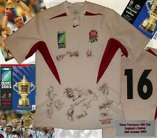 ENGLAND MATCH WORN & SIGNED 2003 RUGBY WORLD CUP JERSEY - WORLD CHAMPIONS