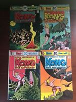 Lot of 2 Kong the Untamed (1975) #2 3 4 5 FN Fine