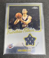 2002-03 Topps Chrome Yao Ming Franchise Fabric RC ROOKIE! RARE!