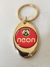 Dodge Neon Keychain Solid Brass key chain Personalized Free