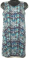 Renee C Sundress - Women's Sz XS - Multi-Color Zig Zag Chevron Sleeveless Dress