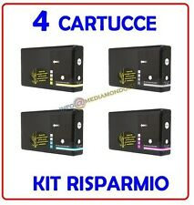 4 CARTUCCE COMPATIBILI PER EPSON WorkForce WP 4015 4025 4035 4095 4525 4095 DNF