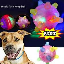 Pet Dog Jumping Activation Ball LED Flashing Bouncing Puppy Chew Toys Ball B4Q3