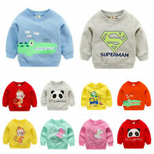 e17a0293 1pc baby girls boys clothes cotton tops pullover outerwear baby sweater Tee