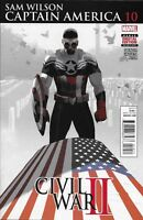 Captain America Comic Issue 10 Sam Wilson Modern Age First Print 2016 Spencer