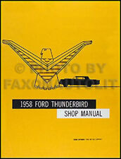 1958 Ford Thunderbird Repair Shop Manual 58 T bird Tbird NEW