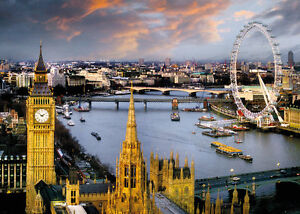 London Giant Poster by the Thames by Reichold Big Ben House of Parliment