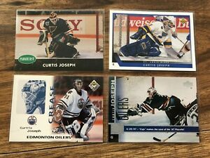 Curtis Joseph 10 Card Lot Goalie RC 1990-2006 Blues Oilers Leafs UD Cujo Insert