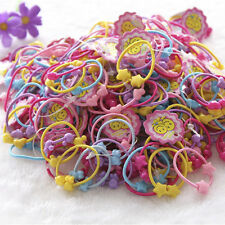 50Pcs Cartoon Love Elastic Hair Band Rope Ponytail Holder For Kids Girl