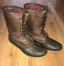 Mens LL Bean Maine Hunting Shoe Boot Leather 10 Inch Gore-Tex Insulated 11