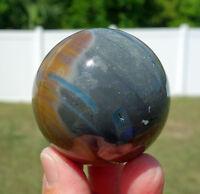 Poly Chrome Jasper Crystal Sphere Ball Polychromic with Center Eye