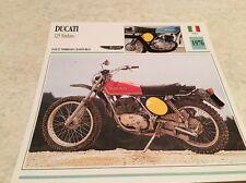 Carte moto Ducati 125 enduro 1976 collection Atlas Motorcycle Italie