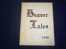 1956 BEAVER TALES BLACKBURN COLLEGE YEARBOOK - CARLINVILLE, IL - YB 1871