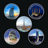 WR Dubai Famous Building Middle East Wonders SILVER Collectors Coin Set Souvenir