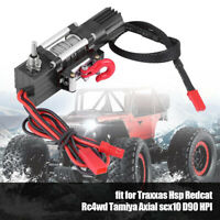 HQ RC Rock Crawler Metal ELECTRIC Winch W/ SWITCH 1:10 Land Rover D90 D110 SCX10