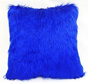 Pillow Cover*Faux Fur Skin Curly Sofa Seat Pad Cushion Case Custom Size*Fs1