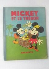 1934 Vintage French Comic Album Mickey et le Treasure Walt Disney HACHETTE