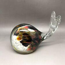 Sweet Little Art Glass Whale - Unknown Maker