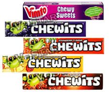 CHEWITS SWEETS BOX OF 40 PACKETS STRAWBERRY BLACKCURRANT COLA FRUIT SALAD